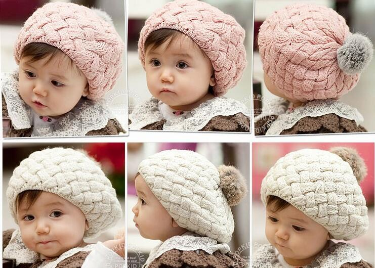 17ffd22f57e 2019 Baby Hats Rabbit S Hair Pom Pom Knit Hat Girls Boys Beanie Winter  Toddler Kids Boy Girl Faux Warm Knitted Caps Knitting Cap 5m 5y Children S  From ...