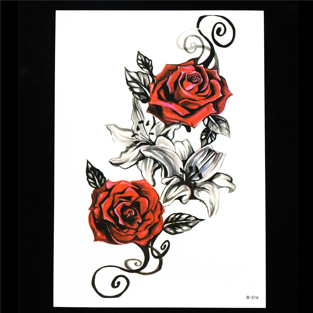Wholesale diy body arm art tattoo women men decal hb516 for Wholesale temporary tattoos
