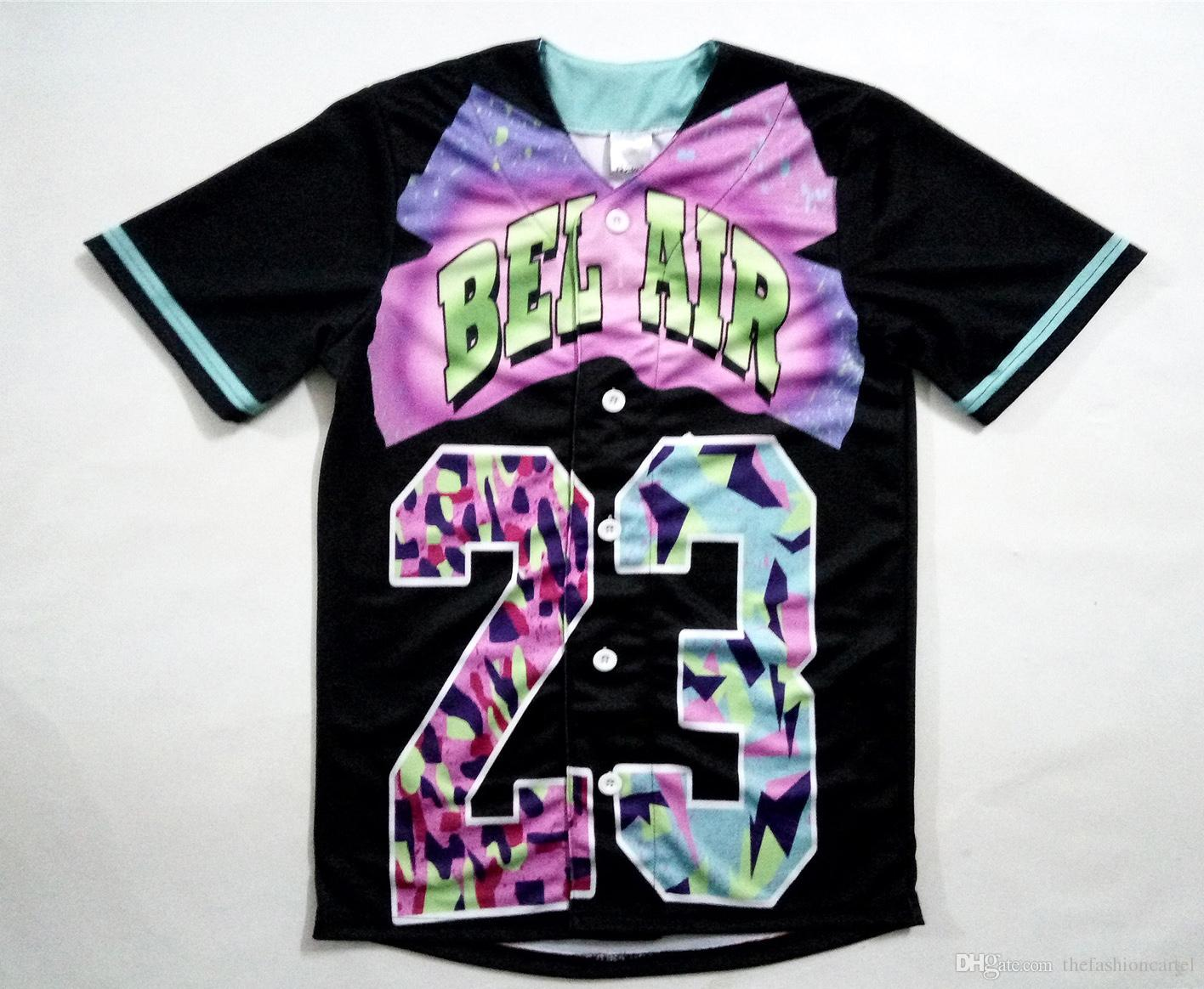 Real USA Size Custom Made Bel Air 23 - Fresh Prince 3D Sublimaiton ... 14ca93a4aa