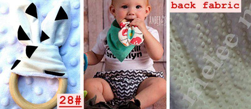Tavşan Kulak Kumaş Yenidoğan Diş Pratik Oyuncak Eğitim El yapımı Yüzük ile INS Bebek Chevron Zikzak Dişlikler Doğal Ahşap Çember