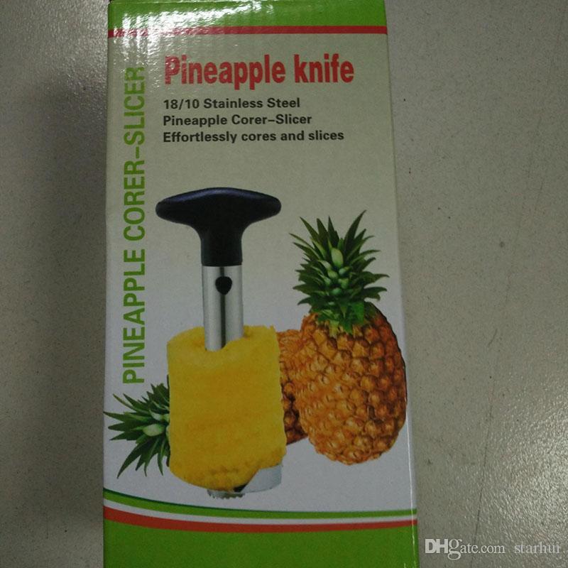 Piñeta de acero inoxidable Peeler para accesorios de cocina Piña rebanadoras de cuchillo de fruta Herramientas de cocina y cocción en stock WX-C43