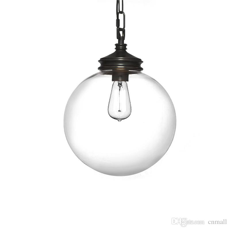 pendant glass lighting. discount minimalist glass ball pendant light retro style iron black spray paint lamp shade restaurant cafe bar corridor e27 holder my4keypzvv dining lighting