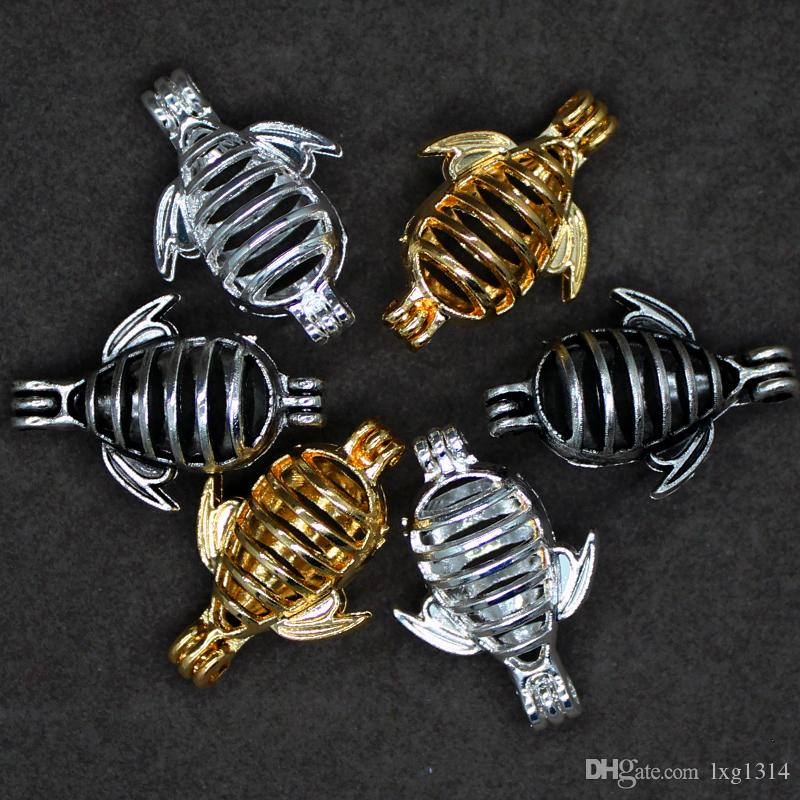 retro prata oco pode abrir gaiola criativo abelha projeto liga contas gaiola fragrância óleo essencial difusor moda pérola caixa de pingente orna
