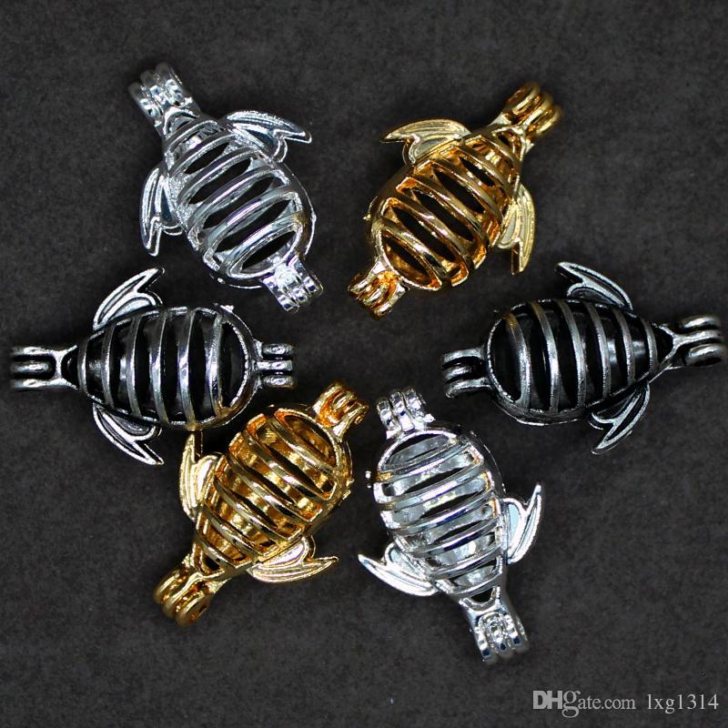 10 unids retro hollow de plata se puede abrir la jaula abeja creativo diseño cuentas de aleación jaula fragancia aceite esencial difusor moda perla colgante caja orna