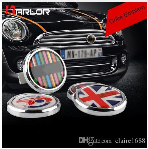 2019 Classic Wreath Metal Front Grill Badge For All Mini Cooper R50