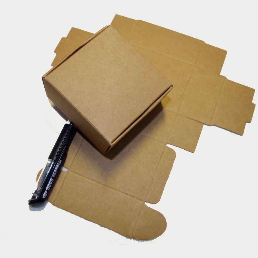 a05f46e234b 2018 Tubetes 8.5x8.5x3.5cm Gift Packaging Kraft Paper Box Jewelry ...