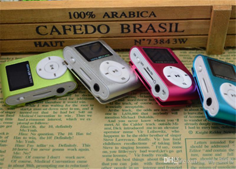Mini Clip Mp3 Music Player With LCD Screen FM Radio Portable Digital