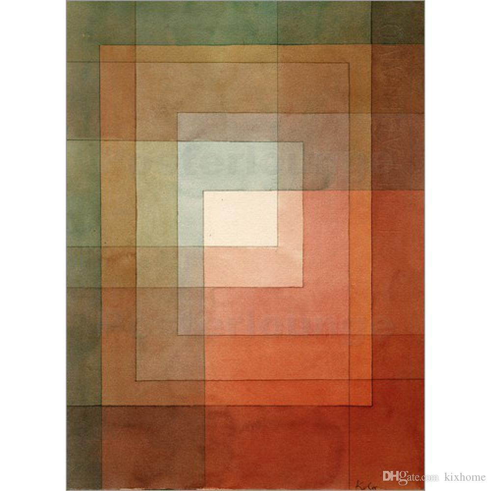 Großhandel Abstrakte Gemälde White Framed Polyphonly Paul Klee ...