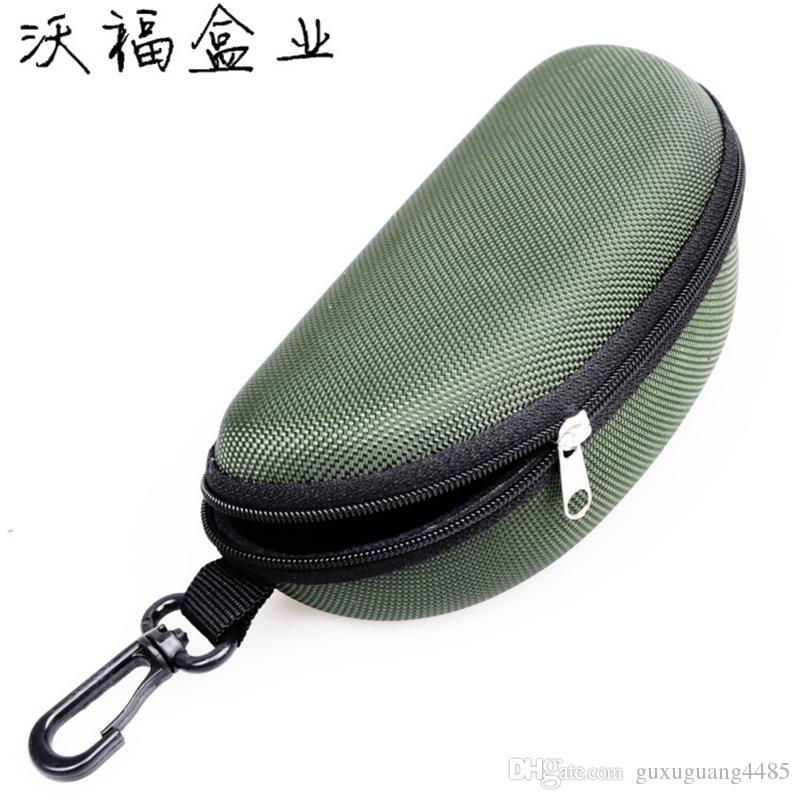 Sun Glasses Box Eyeglasses Shell Zipper Hard Case Carry Box Keyring Sunglasses Case Pouch Bag Eyewear Box Bags Sports Travel Hook