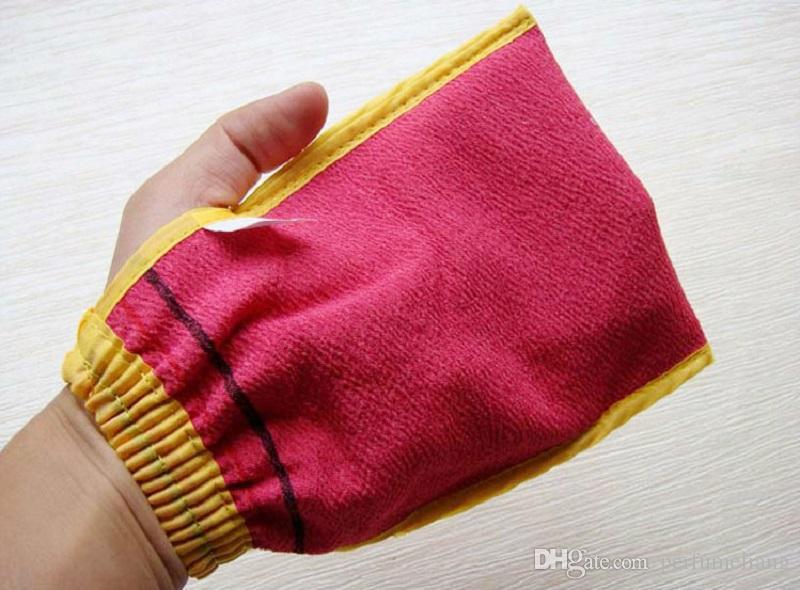 Double sided Korea hammam scrub mitt magic peeling glove exfoliating tan removal mitt WA1635