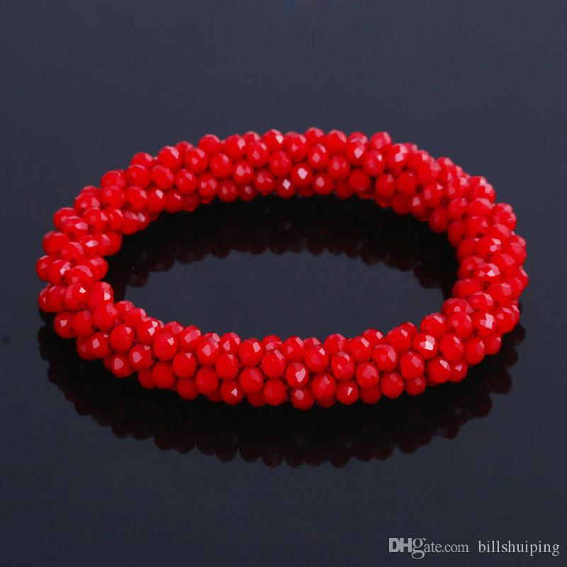 무료 배송 Bangles for Unisex Women 남성 불교기도 Crystal Natural Bracelet Necklace 참 말라 비드 팔찌