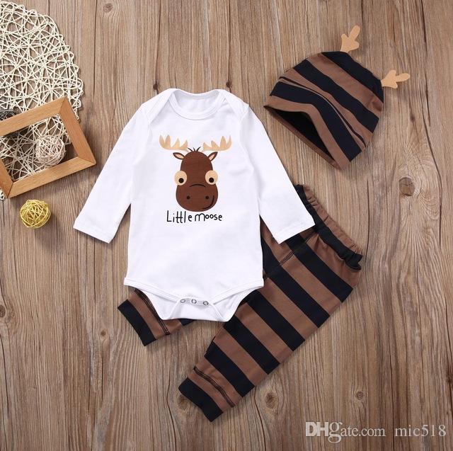 4c01f252e Compre ¡traje De Ciervos !! Recién Nacido Baby Boys Girls Tops ...