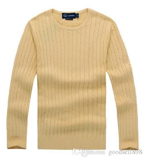 무료 배송 2018 새로운 고품질 마일 마일 와일로그 폴로 브랜드 남성 트위스트 스웨터 니트 면화 스웨터 점퍼 스웨터 스웨터 스몰 말 게임