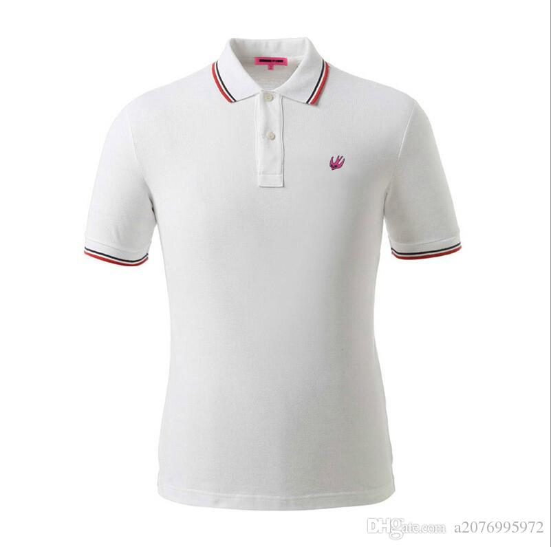European and American style personalized striped polo shirt high quality pure color outdoor leisure Polo polo shirt men size S-XXXL
