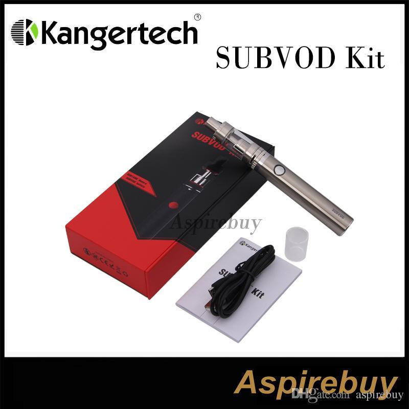 100% Orijinal Kangertech SUBVOD Başlangıç Kiti Nano S Tankı 1.9 ML 1300 mAh SUBVOD Pil ile Alt-ohm Vaping Kiti