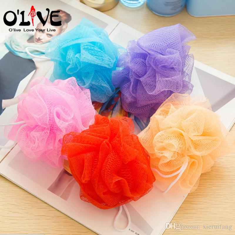 2018 Body Brush Flower Bath Sponge Shower Body Wash Scrubber ...