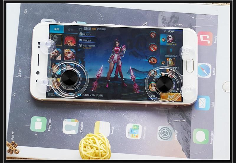 /pair Adsorption Screen Fling Mini Game Joystick Mobile Joystick Gaming Remote Control for Android IOS Phone And Ipad