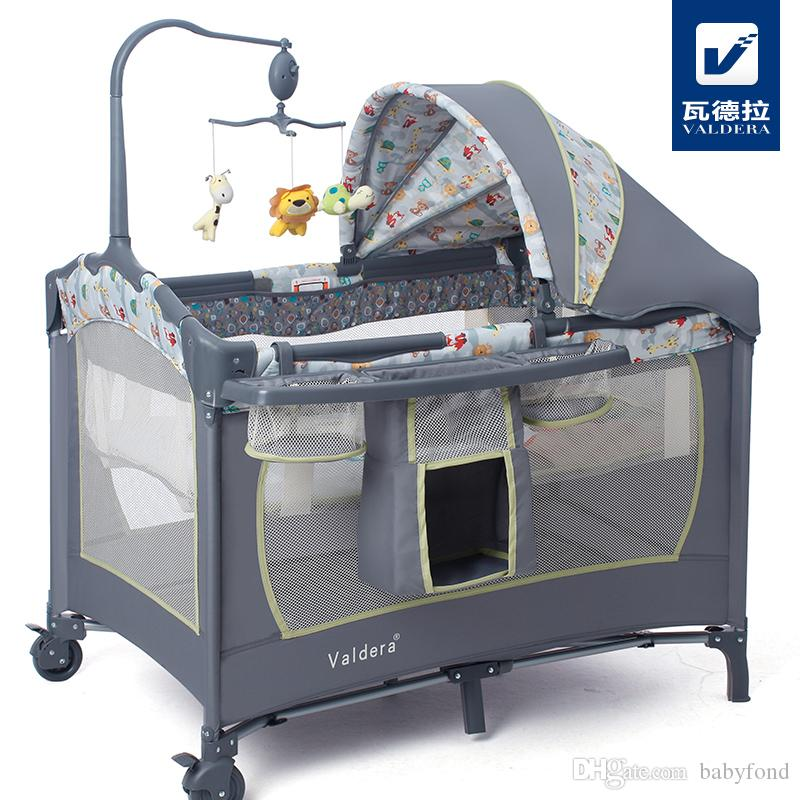 folding portable crib cot with cribs ba foldable bed multifunctional playard