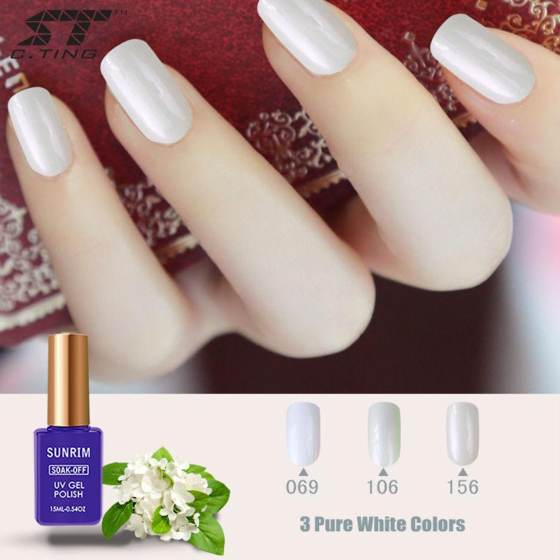 Wholesale Sunrim White Gel Nail Polish For French Tips 15ml Nude Uv Varnish Long Lasting Soak Off Led Lacquer At Home Manicure