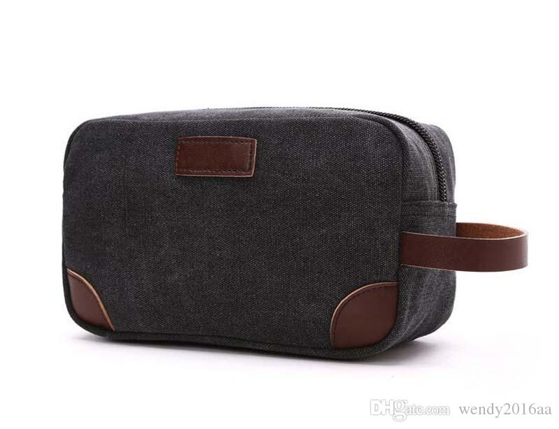 2017 Stuff sacks Women Canvas Cosmetic Bags Men Mix color Protable Storage Bag Coin purse Outdoor