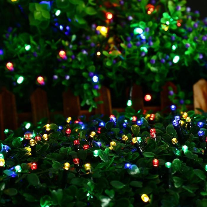 Bleu Vert Blanc Multicolore Multicolore extérieur Lampes solaires jaunes 12M 100LEDS LED Light String Fairy Fairy Solars Jardin Lampe de jardin