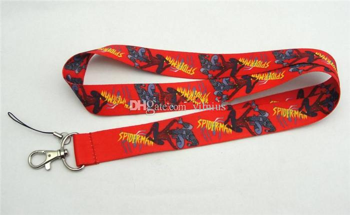 New Mixed Cartoon Design Superhero Spiderman Classic Lanyards Keys Camera ID Card Lanyard Mobile Phone Neck Straps