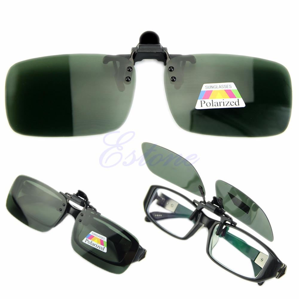 2016 Glasses Vision Up Clip Lens Sunglasses Day On Wholesale Flip Driving Polarized Night H2ID9E
