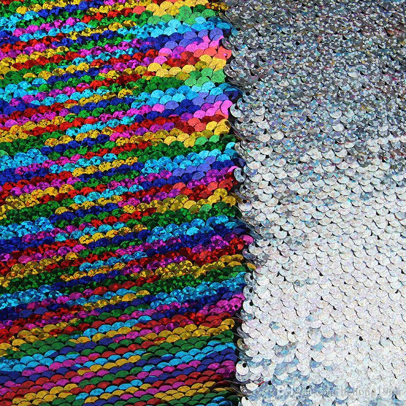 Due colori Federa FAI DA TE Scolorito Paillettes Sirena Cuscino Quadrato Federa La Casa Deco Federa Vendita Calda 10 8hm A R