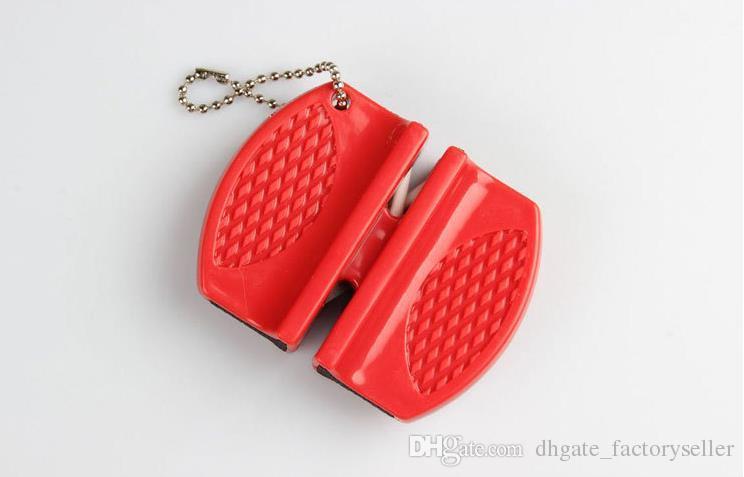 Affilacoltelli in carburo di tungsteno tascabile Mini affilacoltelli coltelli Doppia scanalatura e design portatile Vendita calda