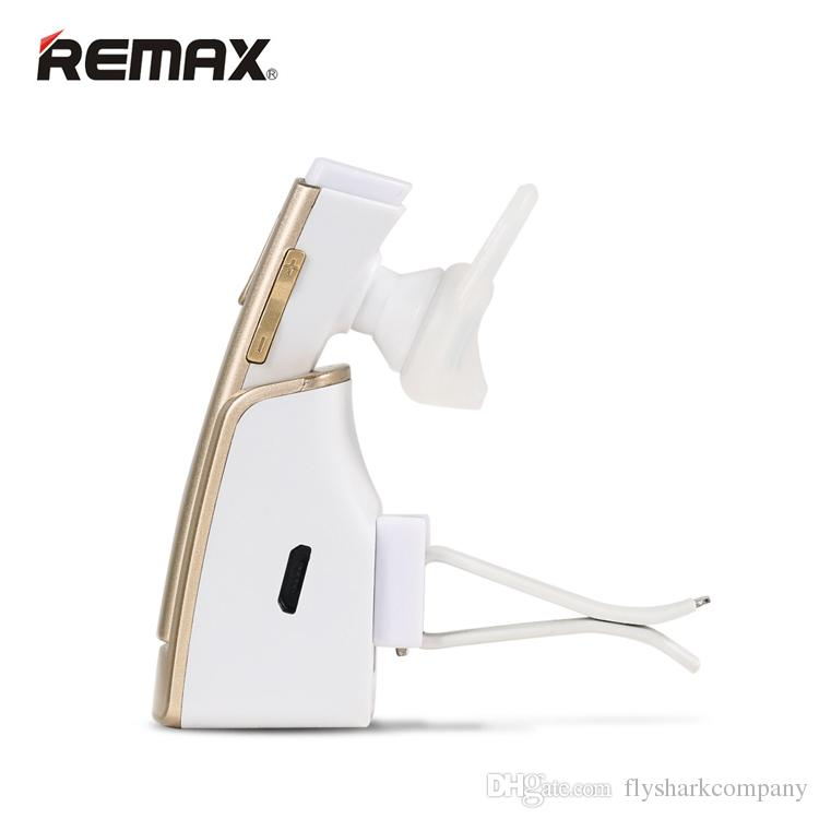 100% Original Smart Car Bleutooth Headset Remax RB-T6C Handsfree Bluetooth Earphones Wireless Charger Portable Headphones Speaker