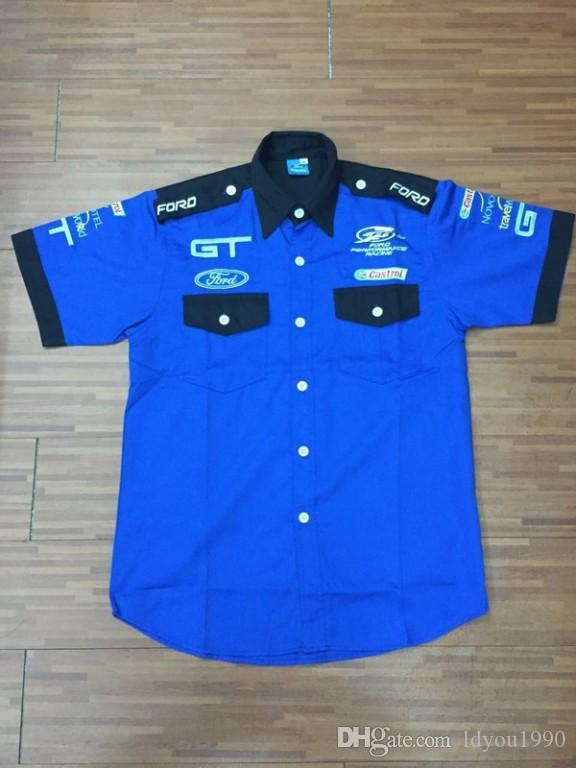 Ford Racing Apparel >> Logo Embroidery For Ford Gt Performance Racing Team Shirts Racing