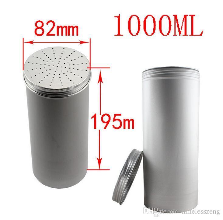 Más Tamaño de aluminio frasco vacío Latas envases de los tarros de té caja de aluminio Casos de maquillaje brillo de labios tarros tarros cosméticos de envío libre de la caja