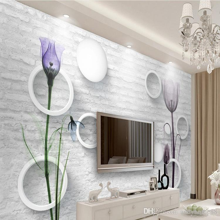 3d Tv Background Wall Paper 5d Three Dimensional Modern Simple