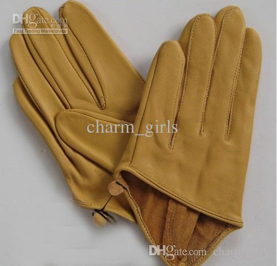 2017 nueva moda de colores SEXO Y LA CIUDAD de la mitad de la palma guante corto moda 5-dedo medio guantes de cuero 10 pares / lote