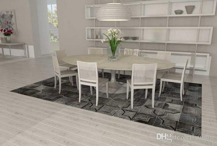 Dark Gray Patchwork Cowhide Rug Moorish Star/Cross Design Leather Rug Durkan Carpet Berber Carpet Prices From Rugfur, $803.02| DHgate.Com