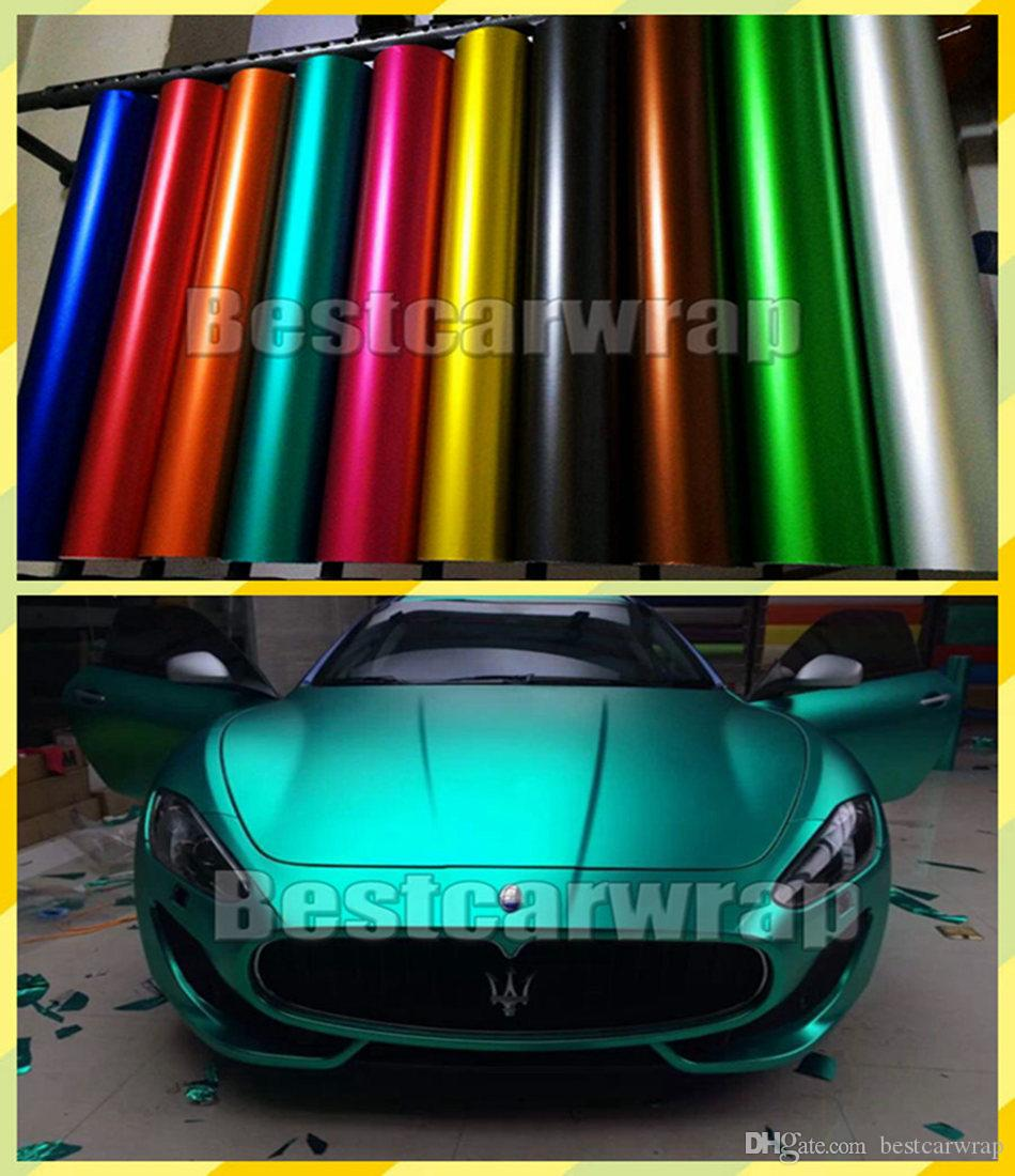 2019 Various Matte Chrome Vinyl For Car Wrap Covering With