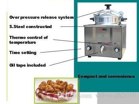 16 لتر كنتاكي فرايد تشيكن الضغط المقلاة ؛ الضغط الدجاج المقلاة العميقة LLFA