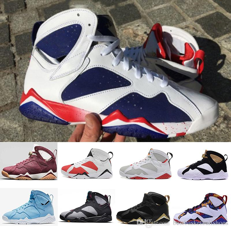new style 74103 8b991 Mens Basketball Shoes 7s Tinker Alternate University Blue Pantone Carmine  Bordeaux Hares Olympic Cigar Gold Martian Trainers Sneakers 7 13 Best  Basketball ...