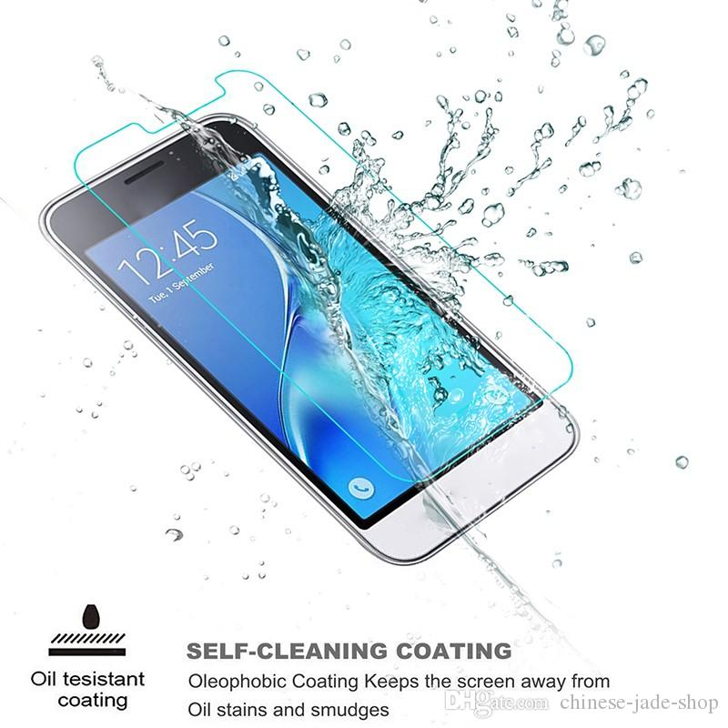 För för SAMSUNG GALAXY A3 A5 A7 A8 A9 A310 A510 A710 E5 E7 C5 9H Premium 2.5D Härdad glasskärmsskydd /