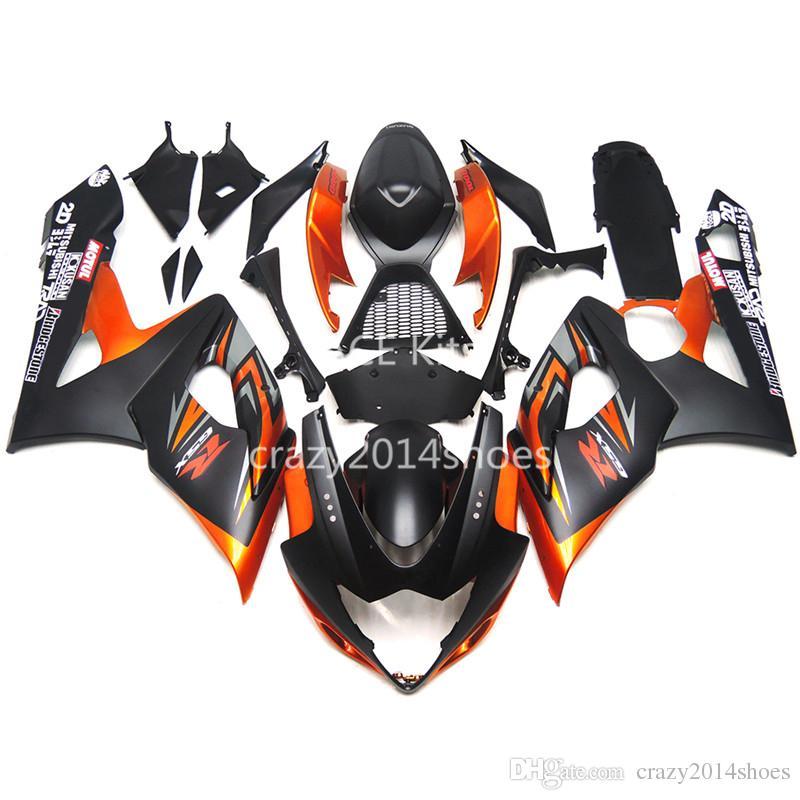 5 regali gratuiti Nuovi Kit carenatura moto ABS 100% adatto SUZUKI GSXR1000 K5 2005-2006 GSXR 1000 K5 05-06 nice orange black nice 188