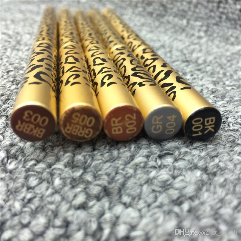 جديد ماكياج عيون ليوبارد جديد المهنية مزدوج رئيس المكياج الحاجب فرشاة قلم رصاص 5 لون أسود / بني / رمادي