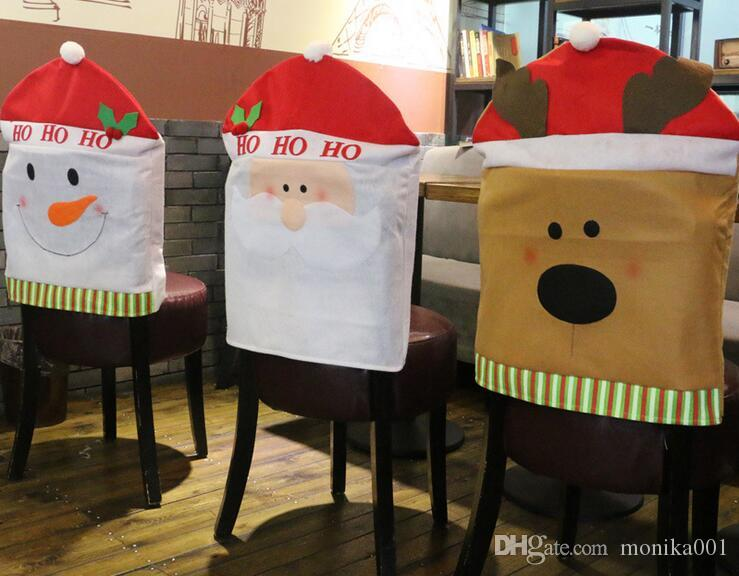 Wholesale 60*50cm Santa Claus Christmas chair cover Christmas ornament Christmas Decorations