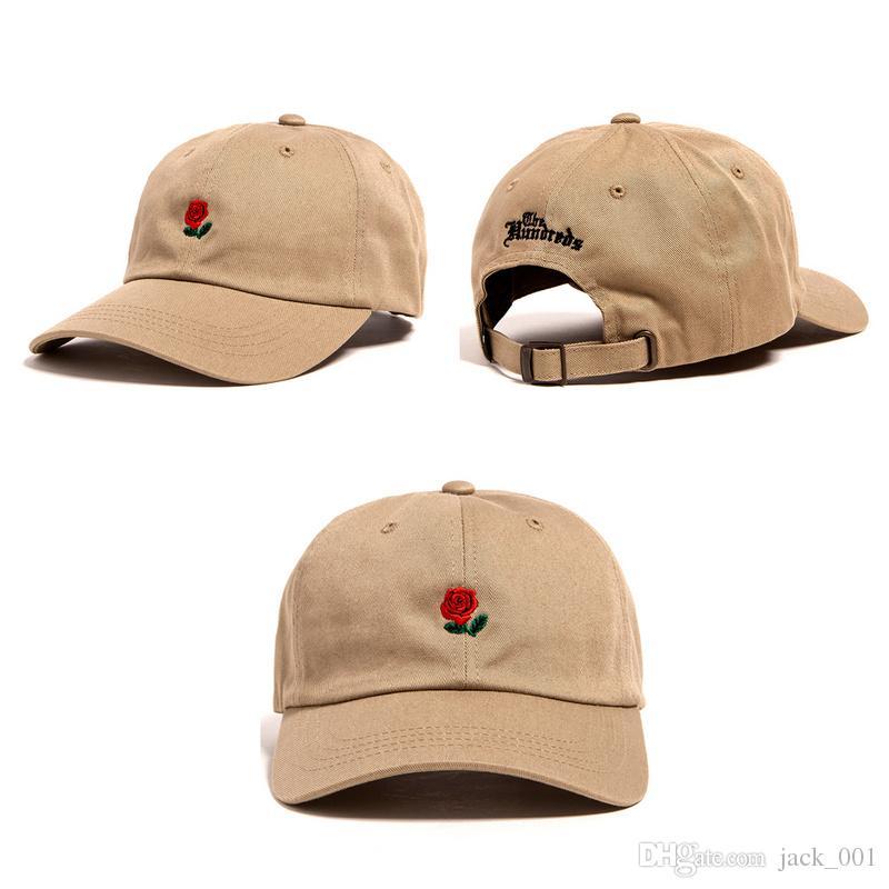 New Fashion Rose Baseball Cap Snapback Hats for Men women Brand ... e6e07f954c74