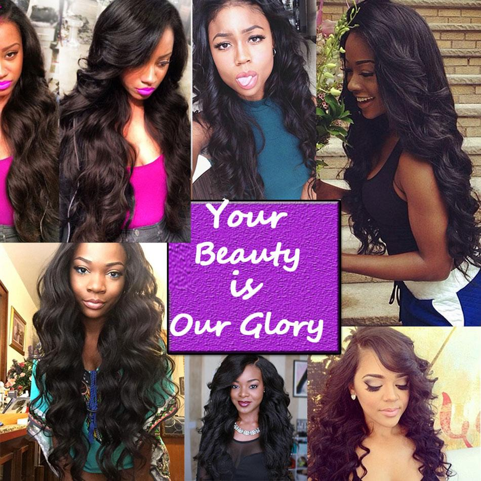 Brazilian Virgin Hair Weaves 3 Bundles with Top Lace Closure Body Wave 8A Malaysian Peruvian Indian Cambodian Human Hair Extensions Closures