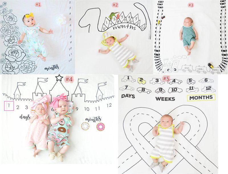 Ins Neonato Fotografia Sfondo Puntelli Coperte neonati Stuoia di stoffa adorabile Baby Lay sfondi tessuto fotografico