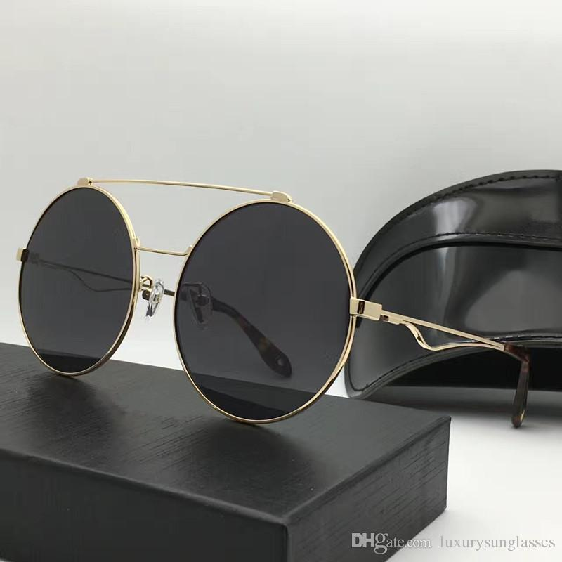 35d5b8a8fdb 7048 Sunglasses Luxury Women Brand Designer Fashion Popular Summer Style  Round Metal Frame Top Quality UV Protection Lens Come With Case 7048  Sunglasses ...