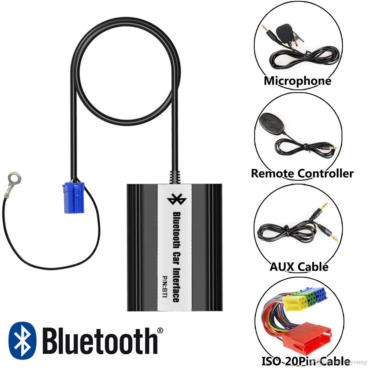 Bluetooth A2DP Handsfree Car Kit USB Flash Drive Car Stereo Adapter  Interface for 1998-2006 Audi A2 A3 A4 A6 A8 TT AllRoad