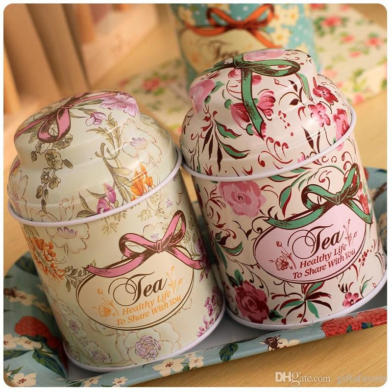 European Vintage tea tin boxes container wedding event party favor box wholesales