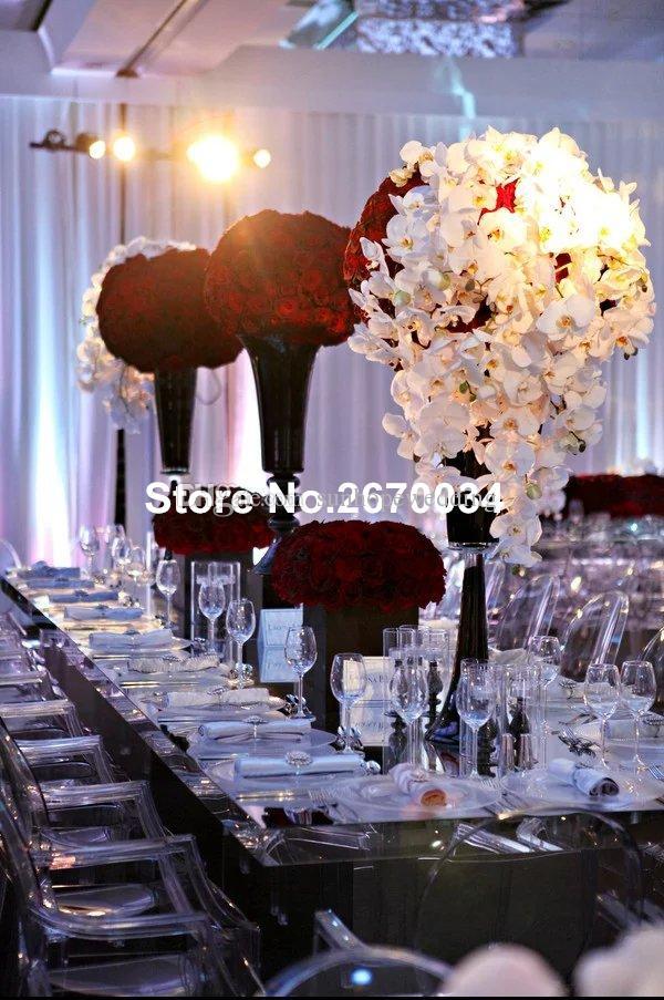 New Arrival mental gold/sliver/black/white plated decoration flower vase
