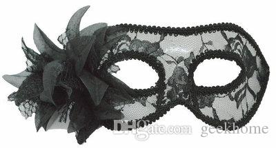 fancy dress Christmas lily flower Venice style party ball prom masks costume dress translucent women's masquerade mask